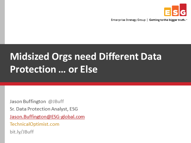Midsize Organizations Need a New Data Protection Strategy