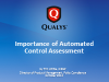 Importance of Automated Controls Assessment