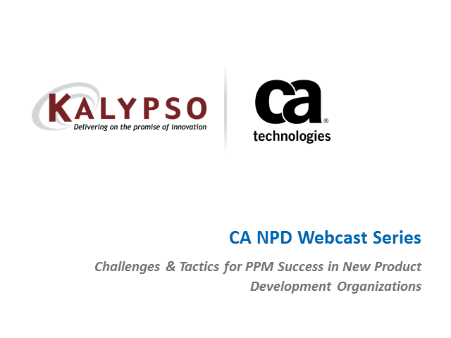 Challenges & Tactics for PPM Success in New Product Development Organizations