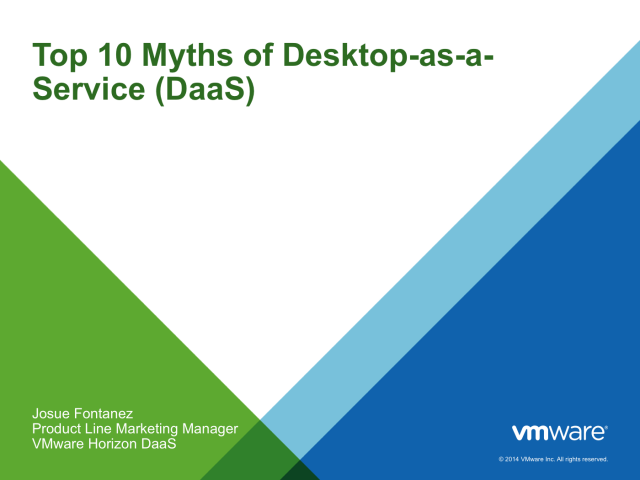 Top 10 Myths of Desktop as a Service (DaaS)