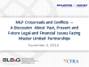 MLP Crossroads and Conflicts: Legal and Financial Issues Facing Master LPs