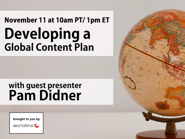 Developing a Global Content Plan