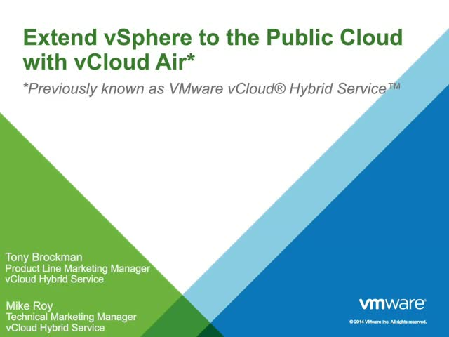 Migrating Workloads to vSphere Hybrid Cloud: Security and Flexibility