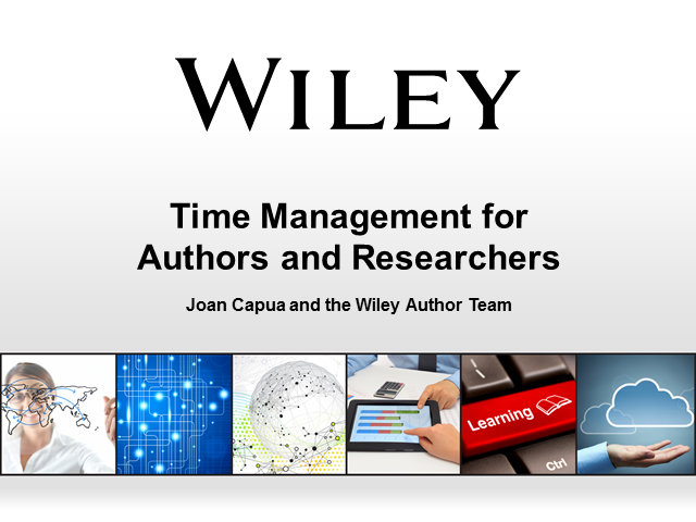 Time Management for Authors and Researchers