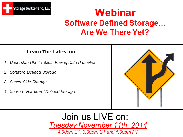Software Defined Storage - Are We There Yet?