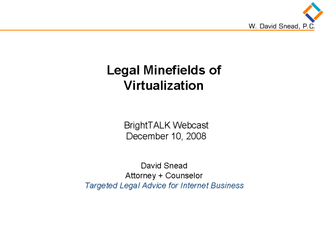 Legal Minefields of Virtualization