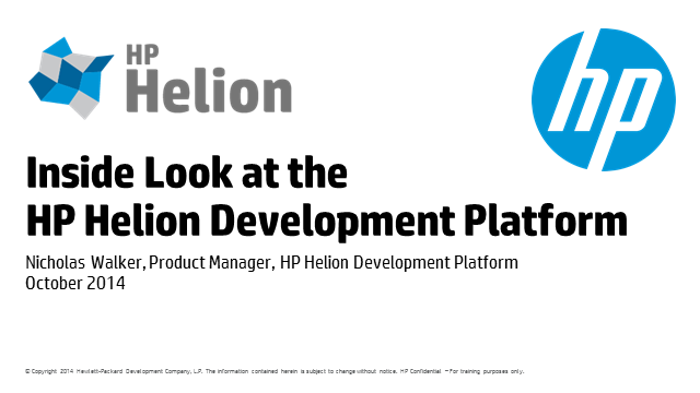 Inside look at HP Helion Development Platform