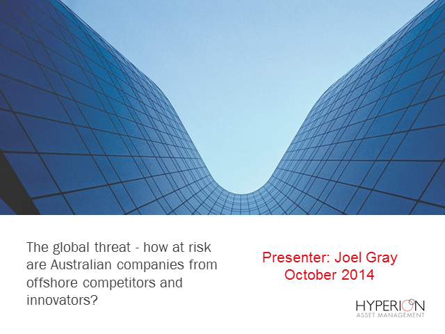 Global threats - How at risk are Australian companies?