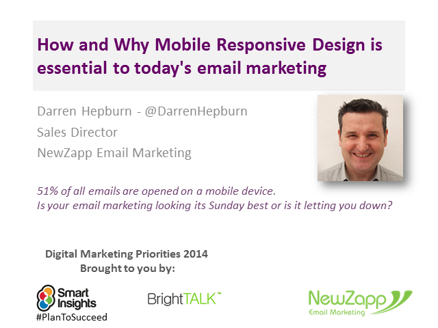 How and Why Mobile Responsive Design is essential to today's email marketing