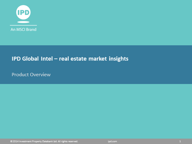 MSCI - real estate market insights - October 2014