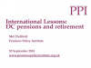 International Lessons:DC pensions and retirement