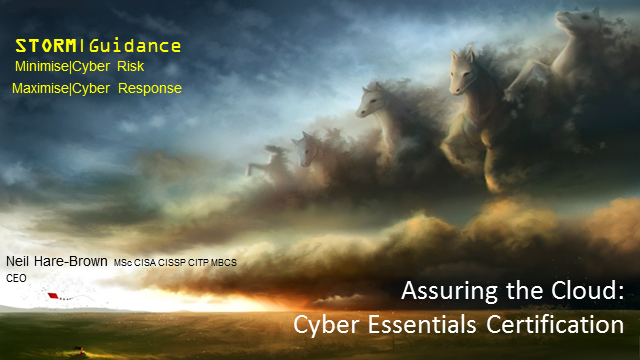 Assuring the Cloud: Cyber Essentials Certification
