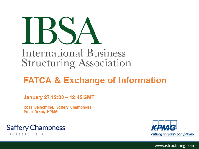FATCA & Exchange of Information