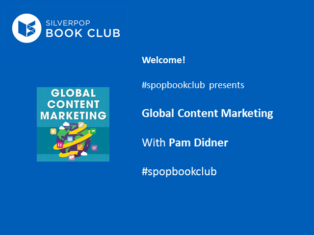 #spopbookclub presents Global Content Marketing with Pam Didner