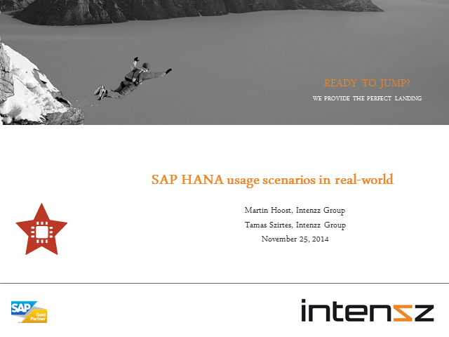 SAP HANA usage scenarios in the real-world
