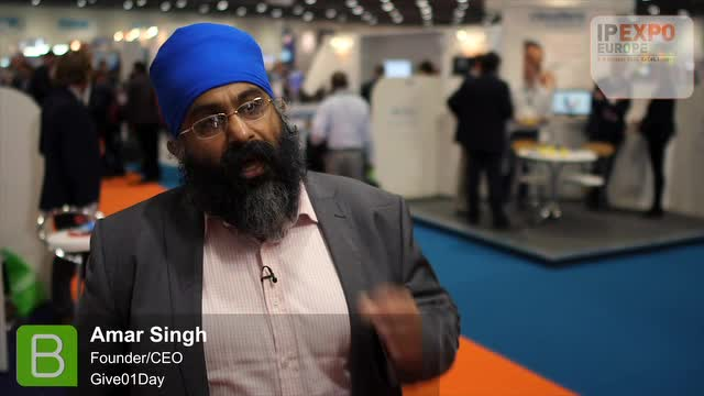 IP Expo 2014: Amar Singh - Founder/CEO, Give01Day.com