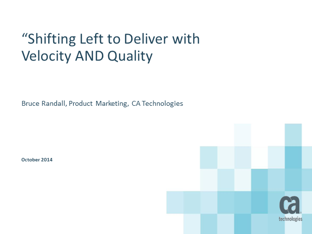Want to shift testing to the left? Consider automating your automation!