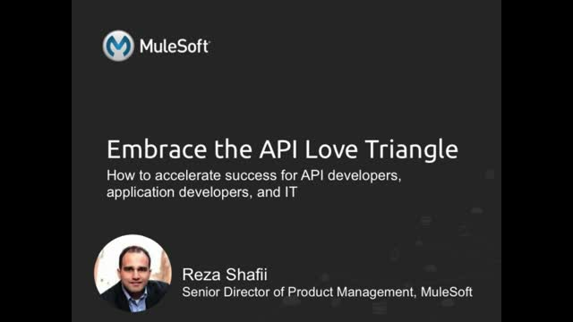 API love triangle: Delivering success to API devs, app devs, and IT