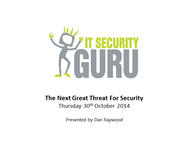 The Next Great Threat to Security