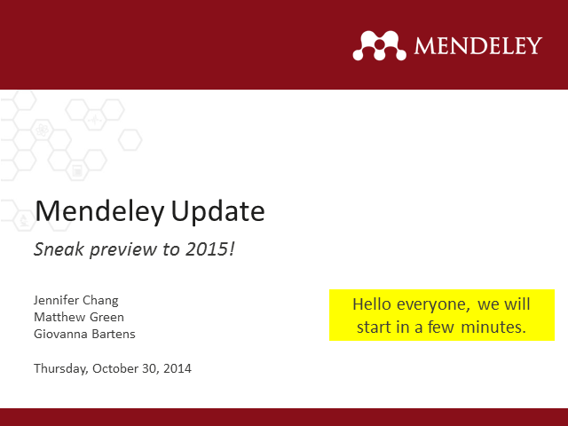 Why you need to adopt Mendeley in 2015?