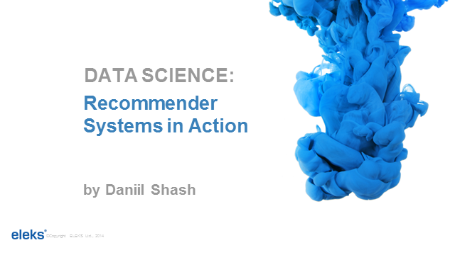 Data Science: Recommender Systems in Action