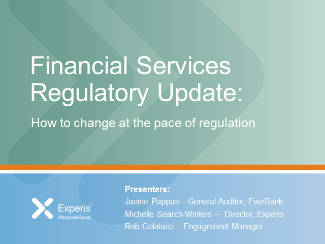Financial Services Guidance:  How to change at the pace of regulation