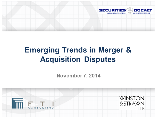Emerging Trends in Merger & Acquisition Disputes