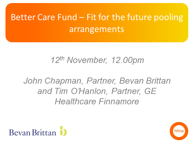Better Care Fund - Fit for the Future pooling arrangements