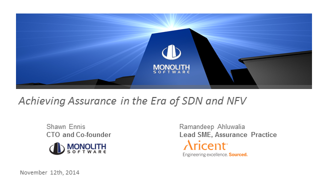 Achieving Assurance In the Era of SDN and NFV
