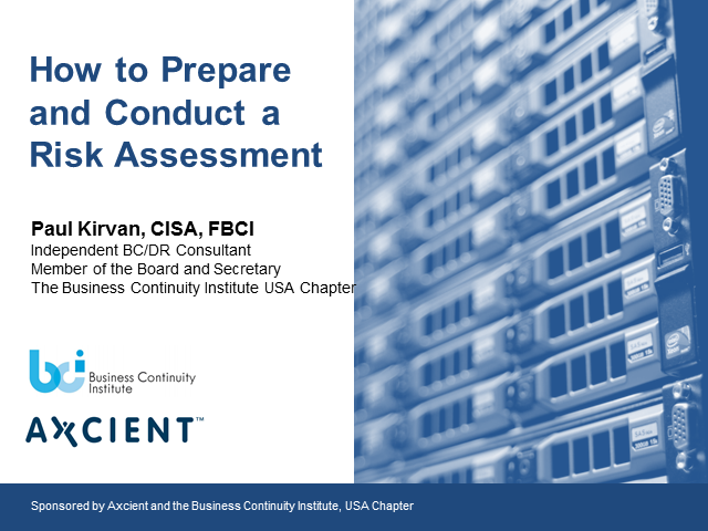 How to Prepare and Conduct a Risk Assessment