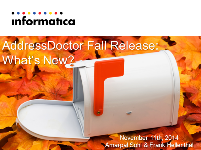 AddressDoctor Fall Release: What's new?