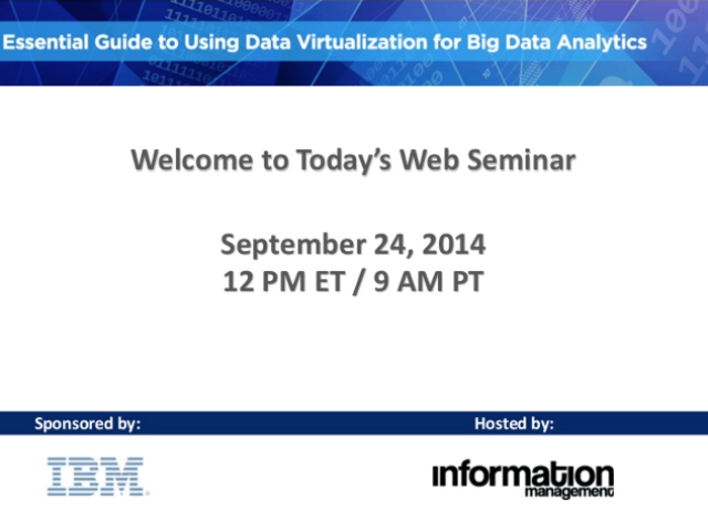 Essential Guide to Using Data Virtualization for Big Data Analytics