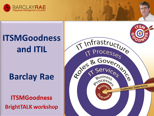 ITSM Goodness and ITIL