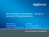 User environment mngmt – the key to successful VDI implementation
