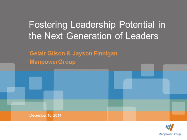 Fostering Leadership Potential in the Next Generation of Leaders