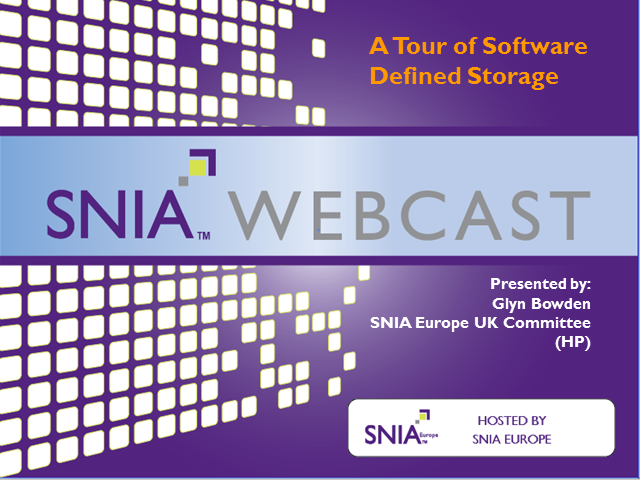 Tour of Software Defined Storage