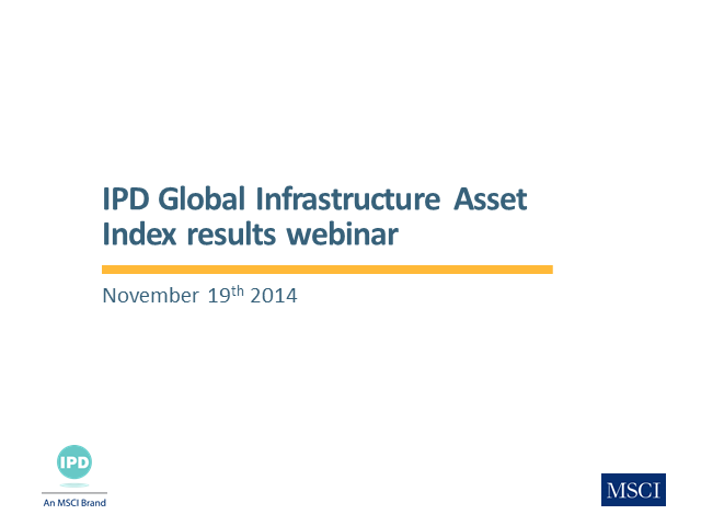 IPD Global Infrastructure Direct Asset Index