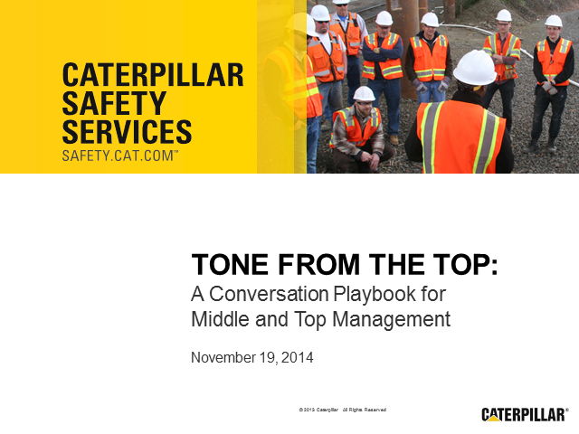 Safety Culture World Webinar: Tone from the Top