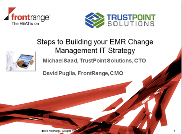 Steps to Building your EMR Change Management IT Strategy
