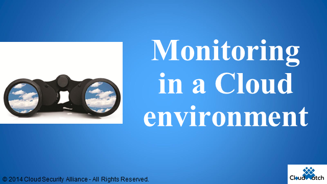 Monitoring in a Cloud Environment