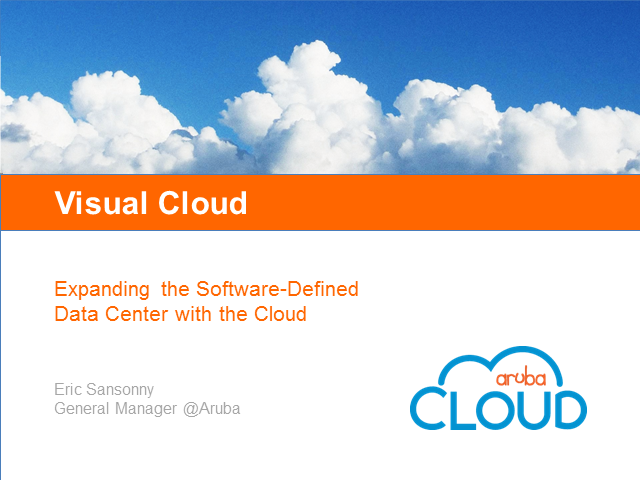 Expanding the Software-Defined Data Center with the Cloud