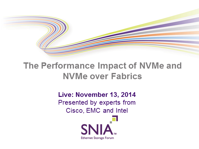 The Performance Impact of NVMe and NVMe over Fabrics