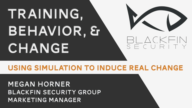 Training, Behavior, and Change: Using simulation to induce real change