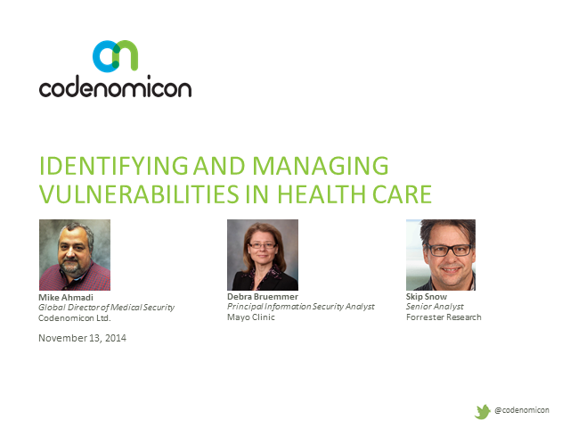 Identifying and Managing Vulnerabilities in Health Care