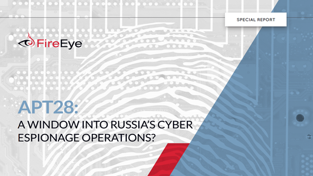 APT 28: Cyber Espionage and the Russian Government?