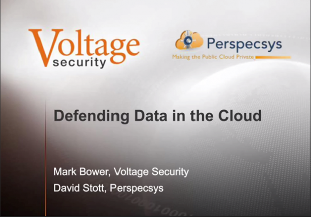 Panel: Defending Data in the Cloud