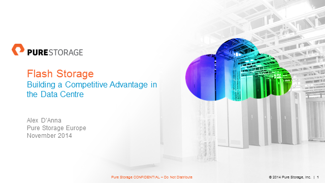 Flash Storage: Building a Competitive Advantage in the Data Centre