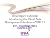 Developer Tutorial: Introducing CDMI 1.1