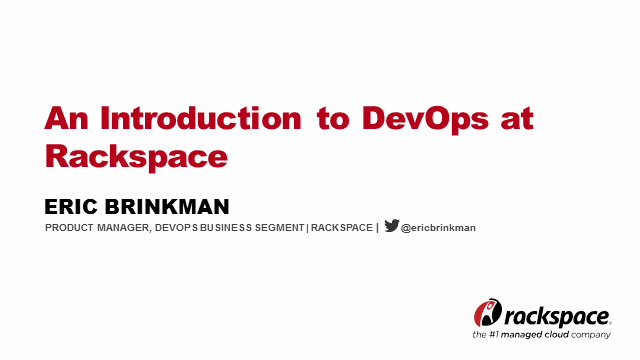 An Introduction to DevOps at Rackspace
