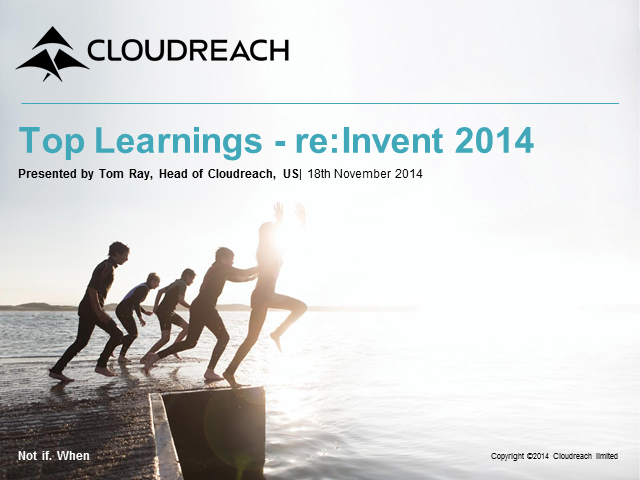 Top Learnings from AWS re:Invent 2014